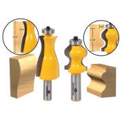 2 Bit Jewellery Box Side and Foot Mould Router Bit Set - 1/2 Shank - Yonico 18234