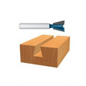 2.5cm (1.3cm Shank) 14 deg. Carbide Tipped Dove-Tail Bit