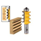 Large Triple Bead Column/Face Moulding Router Bit -1/2 Shank - Yonico 16158