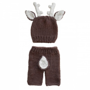 Jastore® Newborn Baby Girls Boys Deer Crochet Knit Costume Photo Photography Prop