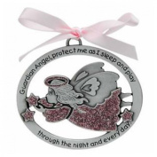 GUARDIAN ANGEL Baby CRIB Medal - CHRISTENING - BAPTISM - Shower Gift - INFANT