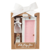 Mud Pie Girl's Pink Tooth Fairy Door Fairy Dust Lost Tooth Pouch Set