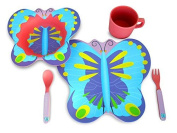 Culina® Kids Bamboo 5-piece Dinnerware Set - Butterfly