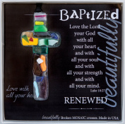 The Grandparent Gift Handmade Mosaic Baptism Cross