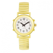 Ladies Tel-Time Talking Watch-Golden-White Dial-Ex