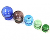 Colour Glass Cupping Therapy Set - Spa and Clinic Quality Performance