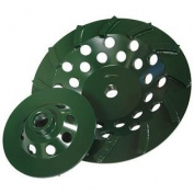 Diamond Products Core Cut 94131 11cm by 1.6cm 11 Utility Green Spiral Turbo Cup Grinders with 9 Segments