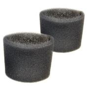 2 Foam Filter Sleeves for Shop-Vac QPS20, QPS225, QPS25, QPS30, QPS35, QPS40, QPL625 QPL650 QPM45 QPM45A QM450A Wet Dry Vacuums