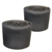 2 Foam Filter Sleeves for Shop-Vac LB550B, LB625, LB650, LB650B, LB650C, LL600, LL625, LL650, LM500, LPV550 Wet Dry Vacuums
