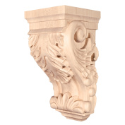 8/PACK HARDWARE RESOURCES CORBB-1OK ACANTHUS TRADITIONAL CORBEL