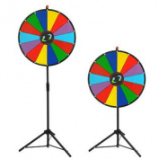 60cm Colour Prize Wheel Fortune w Folding Tripod Floor Stand Carnival Spinnig Game