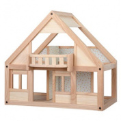 Recycled Wood My First Dollhouse with Balcony and 4 Rooms with Sliding Doors by PlanToys