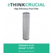 Pool Filter Replaces Unicel C-7471, Pleatco PCC105 & Filbur FC-1977, Designed & Engineered by Think Crucial