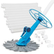 Automatic Swimming Pool Cleaner Vacuum Auto Inground & Above Hover with Hose Set
