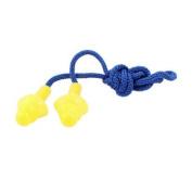 Blue String Silicone Swimming Swim Ear Plug Earplugs Yellow