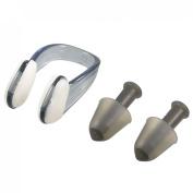 Protective Black Plastic Nose Clip + Silicone Earplugs Set