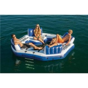Intex Pacific Paradise Relaxation Station Water Lounge 4-Person River Tube Raft