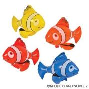 1 Dozen (12) Inflatable, Colourful Clownfish (60cm . Each) / Theme Party Favour / Nemo / Decor / Gift / Prize / Giveaway