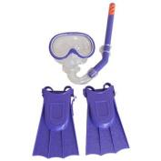 Swimline Otter Swim Set with Mask Snorkel and Fin for Kids - Purple
