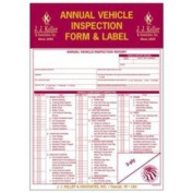 Annual Vehicle Inspection Report and Label 9MP J.J. KELLER
