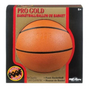 452BL POOF Pro Gold 18cm Foam Basketball with Box, Brown