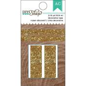 DIY Shop 2 Decorative Tape 3yd Rolls 2/Pkg-Gold Glitter
