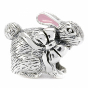 Bella Fascini Bunny Rabbit Easter 925 Sterling Silver Bead Charm Fits. Brands