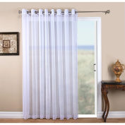 Tergaline Semi-Sheer Grommet Patio Panel with Corded Weighted Hem and Attachable Pull Wand