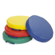 ECR4Kids SoftZone Carry Me Cushions (4-Piece), Round, Assorted Colours