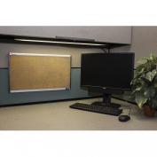 SKILCRAFT Cork Bulletin Board, Self-Healing Cork, 36cm x 60cm , Silver Aluminium Frame