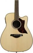Yamaha A1RHC Folk Acoustic-Electric Guitar Natural w/ Case