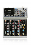 GLi GXL40 4-Channel Mixing Console, Silver