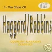 MERLE HAGGARD & MARTY ROBBINS Country Karaoke Classics CDG Music CD
