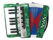 Kids Piano Accordion 17 Keys 8 Bass Green