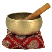 13cm Bell Metal Tibetan Buddhist Singing Bowl Musical Instrument for Meditation with Stick and Cushion - Superior Qu