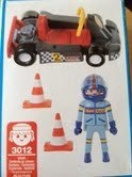 Playmobil Racing Car and Driver with Cones - 3012