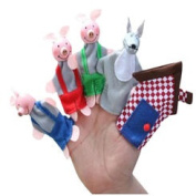 [Little Red] Finger Puppets Story Telling Puppets for Kids 1- .