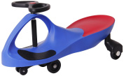 Active Play Swing Car Ride-On, Blue