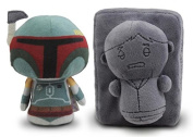 SDCC 2015 Star Wars Itty Bittys Boba Fett and Han Solo in Carbonite Exclusive Plush Figures