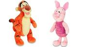 Disney Winnie the Pooh Tigger and Piglet Mini Bean Bag Plush Set- Bundle