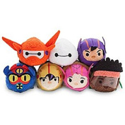 "Disney - Big Hero 15cm Tsum Tsum"" Mini Plush Collection - Set of 7 - Baymax, Etc"