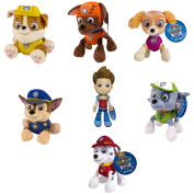 PAW PATROL PLUSH PUP PALS , COMPLETE SET OF ALL 7 - RYDER ZUMA SKYE RUBBLE ROCKY MARSHALL CHASE