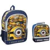 Despicable Me Minions Movie 41cm Backpack & Lunch Box Set - I Speak Minion