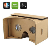 DIY 3D Google Cardboard Glasses - Mobile Phone Virtual Reality 3D Glasses, NFC, For iPhone + Android Phones