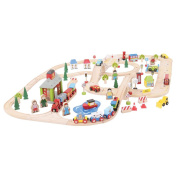 Bigjigs Baby BJT032 Rail City Road and Railway Set