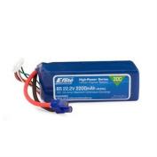 E-Flite 2200mAh 6S 22.2V 30C LiPo, 13AWG E EFLB22006S30 EFLB22006S30 E-FLITE