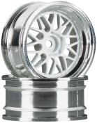 106773 HRE C90 Wheel 26mm Chrome/White 6mm Offset (2) HPIC6773 HPI