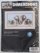 "Dimensions Counted Cross Stitch Power of the Serengeti 16"" x 8"""