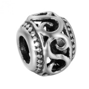 HooAMI Ancient Silver Punk Style Jewellery Making Big Hole Bead - Jewellery Findings