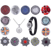 Morella Ladies 'Click-Button Necklace Stainless Steel 70 cm with free Wrist Strap Designs Set Modern 14